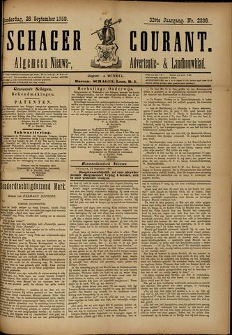 Schager Courant 1889-09-26