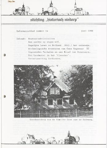 Informatieblad stichting Historisch Niedorp 1990