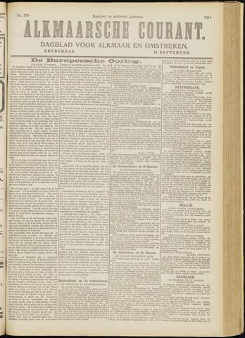 Alkmaarsche Courant 1914-09-17