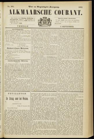 Alkmaarsche Courant 1892-09-02