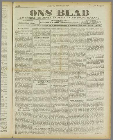 Ons Blad : katholiek nieuwsblad voor N-H 1920-02-12