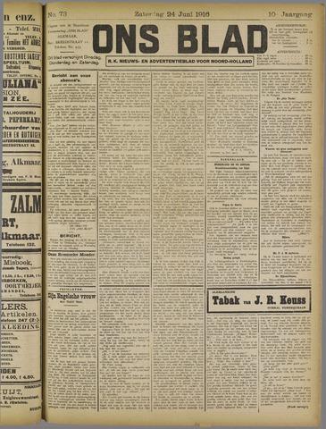Ons Blad : katholiek nieuwsblad voor N-H 1916-06-24