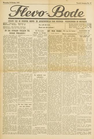 Flevo-bode: nieuwsblad voor Wieringen-Wieringermeer 1947-10-29