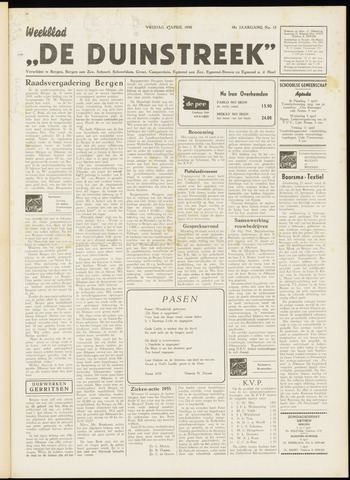 De Duinstreek 1958-04-04