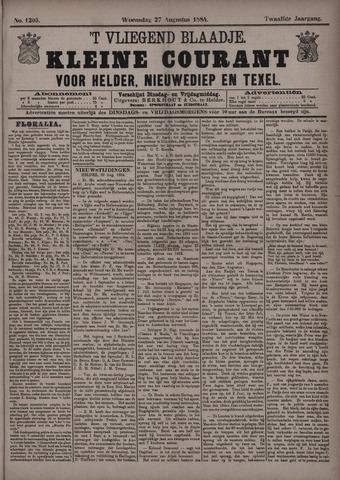 Vliegend blaadje : nieuws- en advertentiebode voor Den Helder 1884-08-27