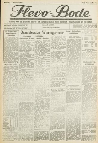 Flevo-bode: nieuwsblad voor Wieringen-Wieringermeer 1948-08-18