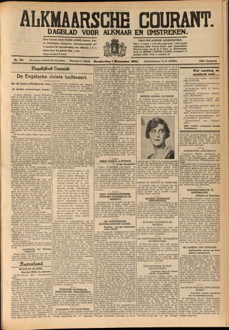 Alkmaarsche Courant 1934-11-01