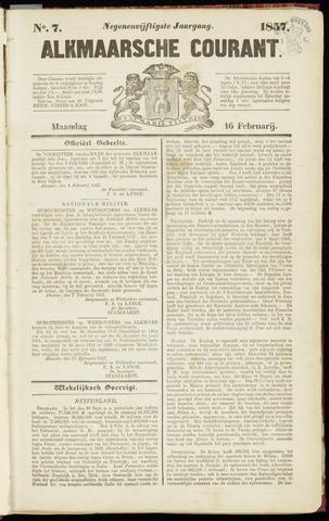 Alkmaarsche Courant 1857-02-16
