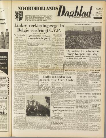 Noordhollands Dagblad : dagblad voor Alkmaar en omgeving 1954-04-12