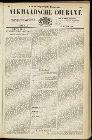 Alkmaarsche Courant 1892-02-19