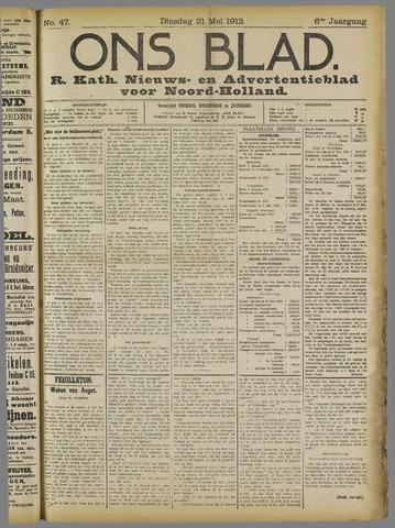 Ons Blad : katholiek nieuwsblad voor N-H 1912-05-21