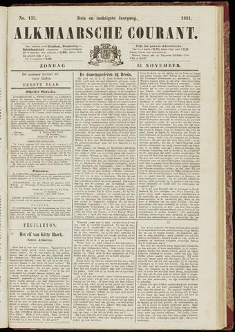 Alkmaarsche Courant 1881-11-13