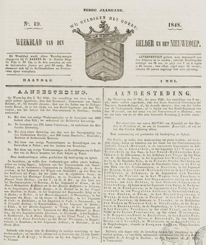 Weekblad van Den Helder en het Nieuwediep 1848-05-01