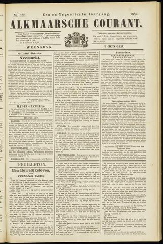 Alkmaarsche Courant 1889-10-09