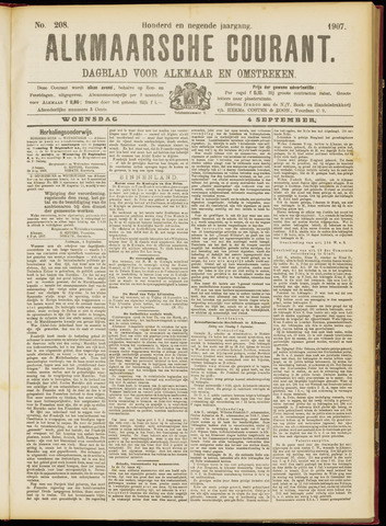 Alkmaarsche Courant 1907-09-04