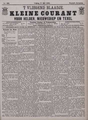 Vliegend blaadje : nieuws- en advertentiebode voor Den Helder 1881-05-27