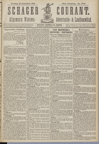 Schager Courant 1920-11-23