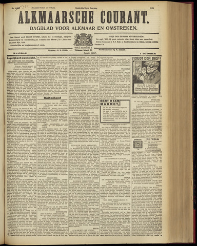 Alkmaarsche Courant 1928-10-01