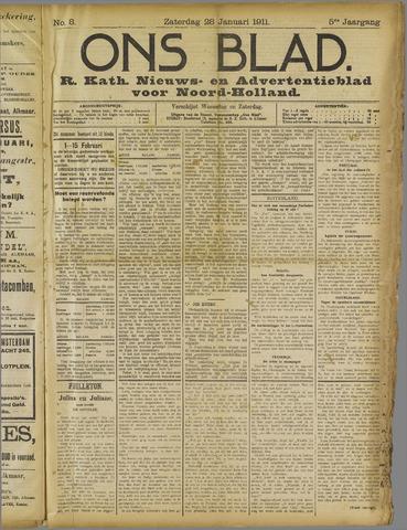 Ons Blad : katholiek nieuwsblad voor N-H 1911-01-28