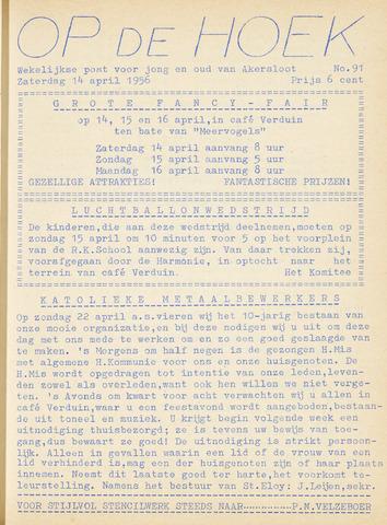 Op De Hoek, weekblad voor Akersloot 1956-04-14