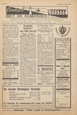 Contact met de Egmonden 1961-01-12