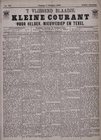 Vliegend blaadje : nieuws- en advertentiebode voor Den Helder 1880-02-03