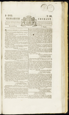 Alkmaarsche Courant 1842-03-07
