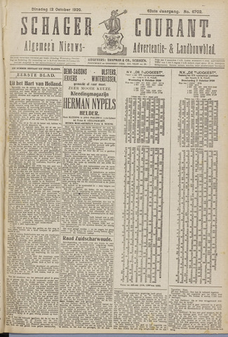 Schager Courant 1920-10-12