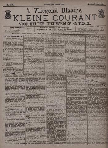 Vliegend blaadje : nieuws- en advertentiebode voor Den Helder 1886-01-13