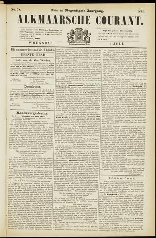 Alkmaarsche Courant 1891-07-01