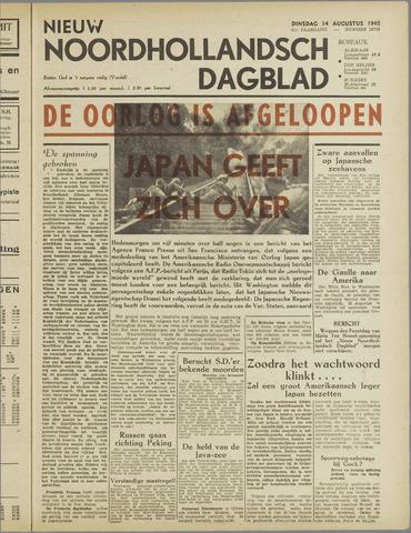 Nieuw Noordhollandsch Dagblad : voor Alkmaar en omgeving 1945-08-14
