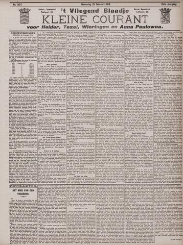 Vliegend blaadje : nieuws- en advertentiebode voor Den Helder 1903-02-25