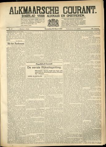 Alkmaarsche Courant 1933-03-22