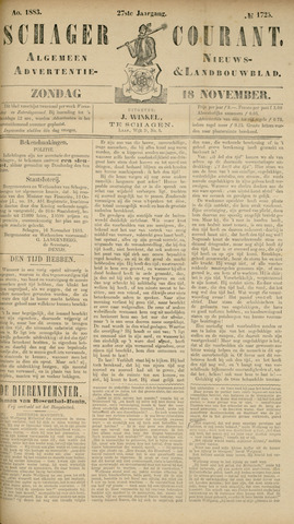 Schager Courant 1883-11-18