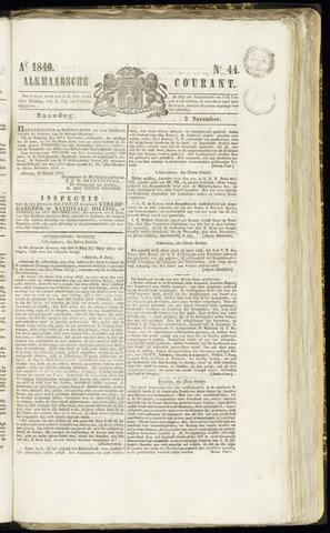 Alkmaarsche Courant 1840-11-02