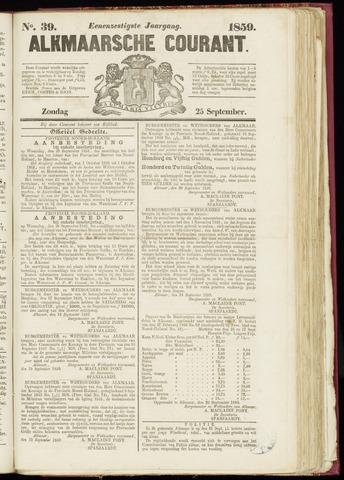 Alkmaarsche Courant 1859-09-25
