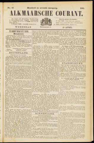Alkmaarsche Courant 1905-04-12