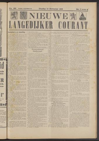 Nieuwe Langedijker Courant 1925-11-10