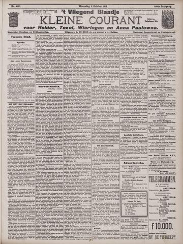 Vliegend blaadje : nieuws- en advertentiebode voor Den Helder 1912-10-02