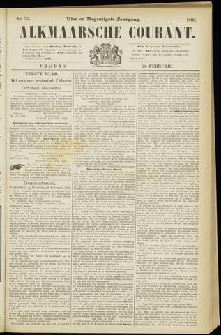 Alkmaarsche Courant 1892-02-26
