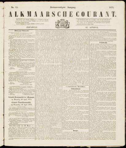 Alkmaarsche Courant 1874-04-12