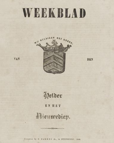 Weekblad van Den Helder en het Nieuwediep 1848-01-03