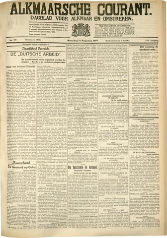 Alkmaarsche Courant 1933-08-14