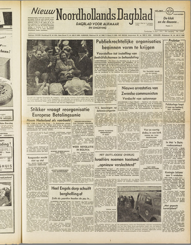 Nieuw Noordhollandsch Dagblad : voor Alkmaar en omgeving 1952-04-10