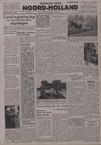 Dagblad Noord-Holland, Schager editie 1942-08-20