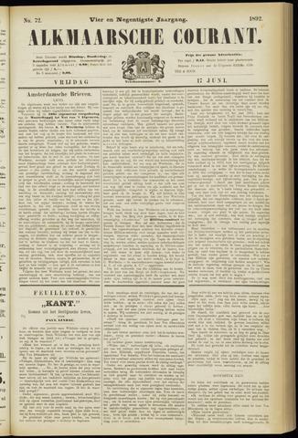 Alkmaarsche Courant 1892-06-17