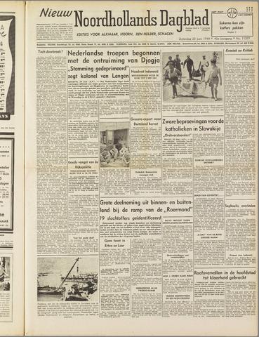 Nieuw Noordhollandsch Dagblad : voor Alkmaar en omgeving 1949-06-25