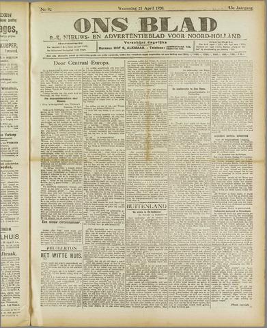 Ons Blad : katholiek nieuwsblad voor N-H 1920-04-21