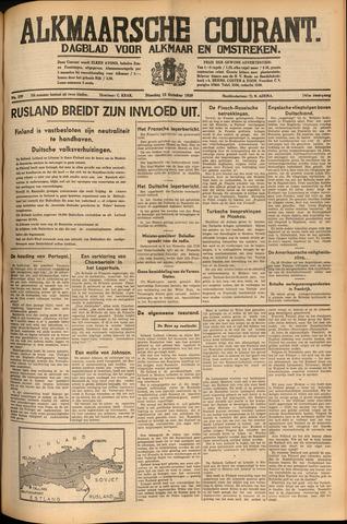 Alkmaarsche Courant 1939-10-10