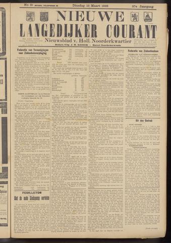 Nieuwe Langedijker Courant 1928-03-13